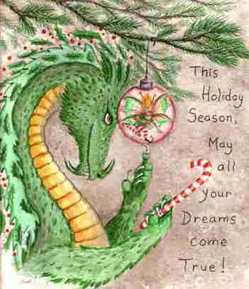 holiday dragon