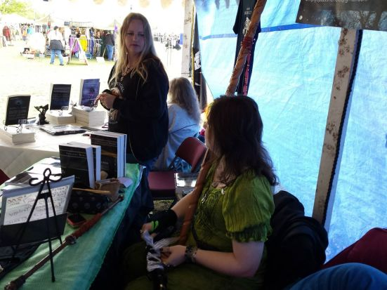 Me and Suzanne Dome, chatting in between visitors to the tent